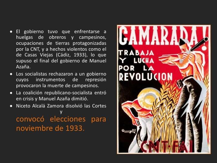 El Bienio Conservador y el Frente Popular                             (1933-1936).
