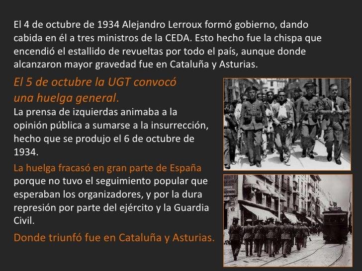 El balance de la Revolución de Octubre de 1934 fue aterrador: másde 1.300 muertos, el doble de heridos, 30.000 detenidos, ...