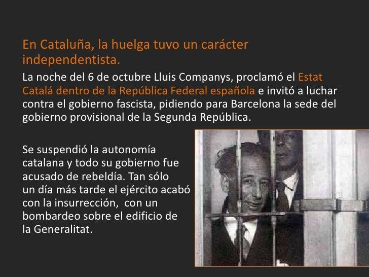 La izquierda, unió a todos los grupos,reclamando nuevas elecciones parasalvar la República. Azaña, yaliberado, recuperó su...