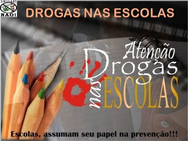 AS DROGAS NAS ESCOLAS 1AULA 2