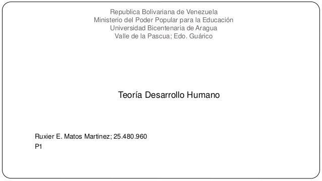 Republica Bolivariana de Venezuela Ministerio del Poder Popular para la Educación Universidad Bicentenaria de Aragua Valle...