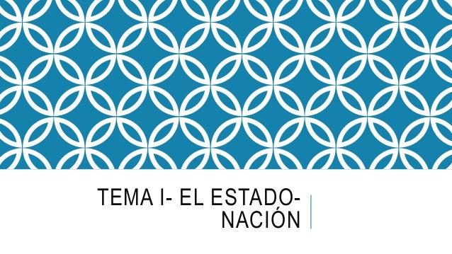 TEMA I- EL ESTADO- NACIÓN
