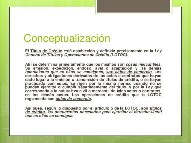 Títulos y Operaciones de Crédito (Generalidades) Slide 2