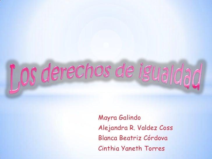 Mayra GalindoAlejandra R. Valdez CossBlanca Beatriz CórdovaCinthia Yaneth Torres
