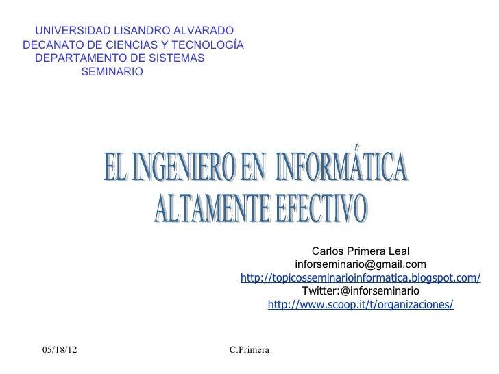 UNIVERSIDAD LISANDRO ALVARADODECANATO DE CIENCIAS Y TECNOLOGÍA  DEPARTAMENTO DE SISTEMAS         SEMINARIO                ...
