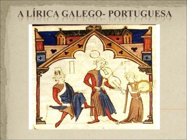 A LÍRICA PROFANA Características xerais, tipos de produción e tradición manuscrita