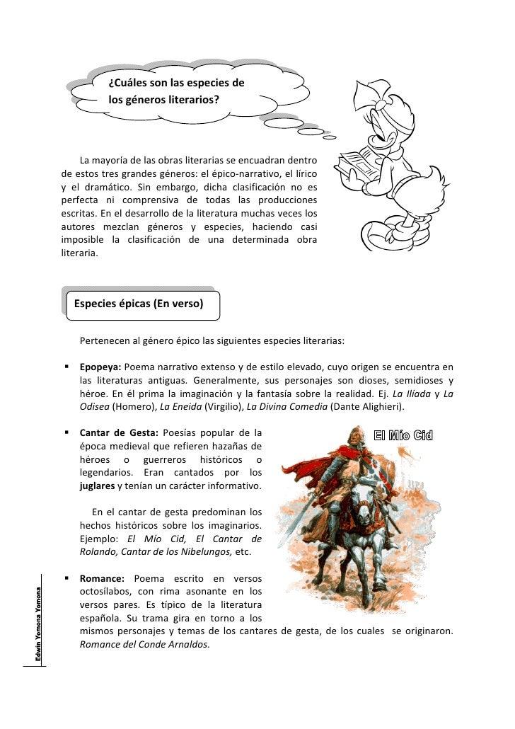 Tema nº 002   los géneros literarios Slide 3