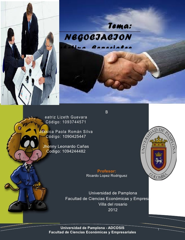 Tema:            NEGOCIACION   Marketing Especiales                                  B  eatriz Lizeth Guevara  Código: 109...