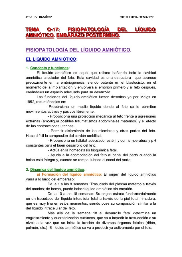 Prof.J.V.RAMÍREZ OBSTETRICIA‐TEMA17/1TTTEEEMMMAAA OOO---111777::: FFFIIISSSIIIOOOPPPAAATTTOOOLLLOOOGGGÍÍÍAAA DDDEE...