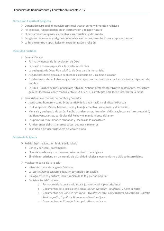 Temario ebr-nivel-secundaria-educación-religiosa 2017 Slide 2