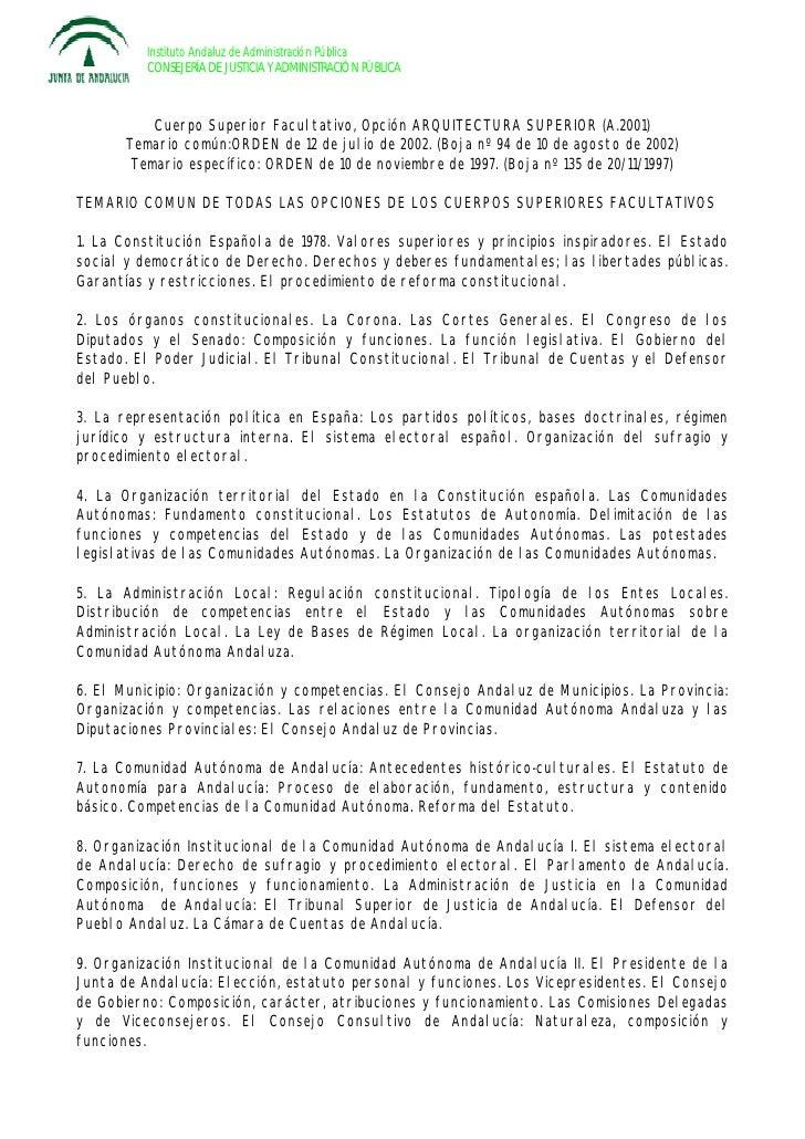 Instituto Andaluz de Administración Pública           CONSEJERÍA DE JUSTICIA Y ADMINISTRACIÓ N PÚ BLICA               Cuer...