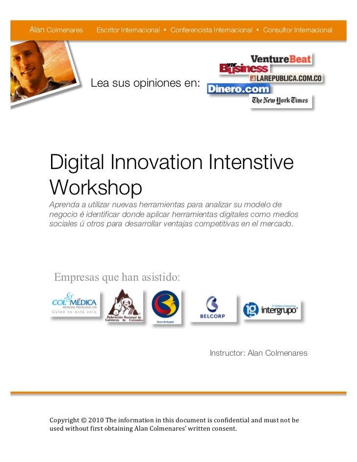 Alan Colmenares     Escritor Internacional • Conferencista Internacional • Consultor Internacional                  Lea s...