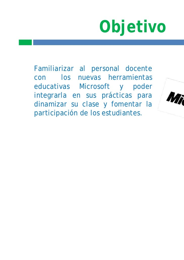 Temario ms learning tools 2011 2012 Slide 2