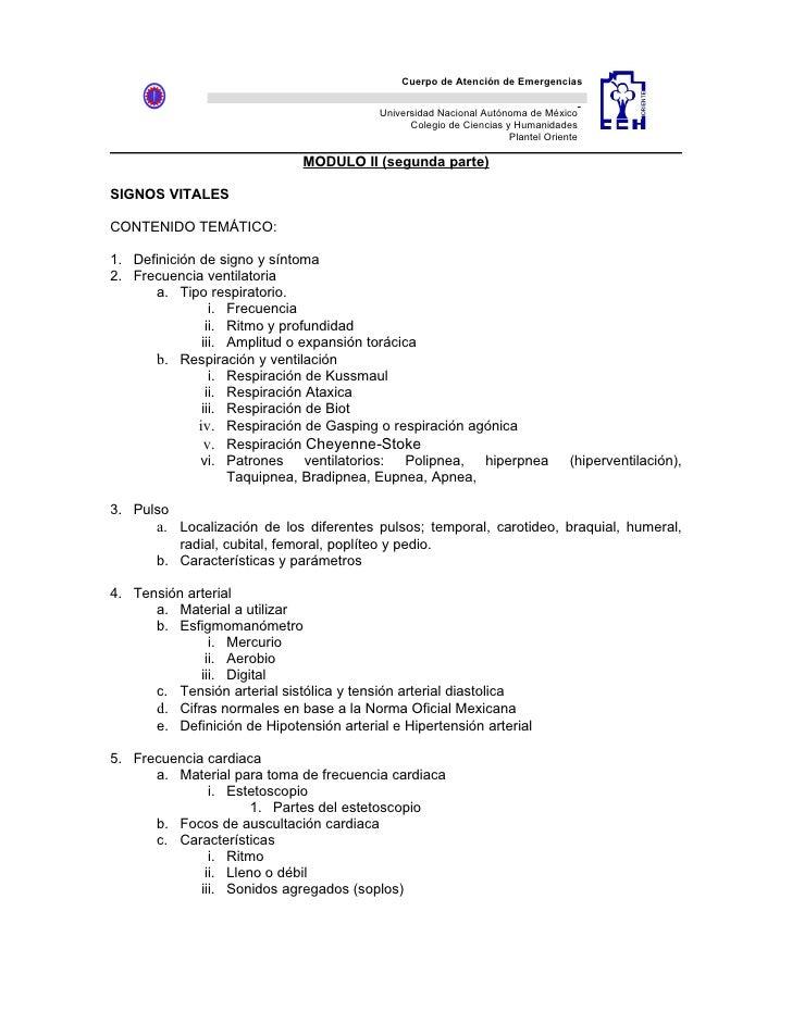 Cuerpo de Atención de Emergencias                                               Universidad Nacional Autónoma de México   ...
