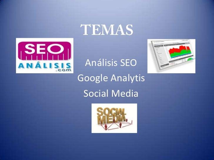 Análisis SEOGoogle Analytis Social Media