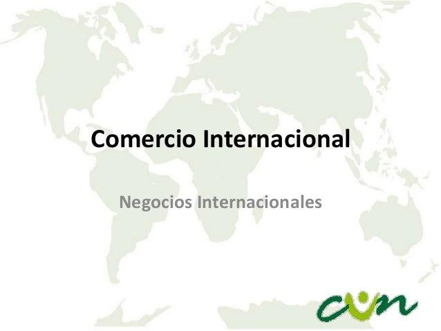Comercio Internacional Negocios Internacionales