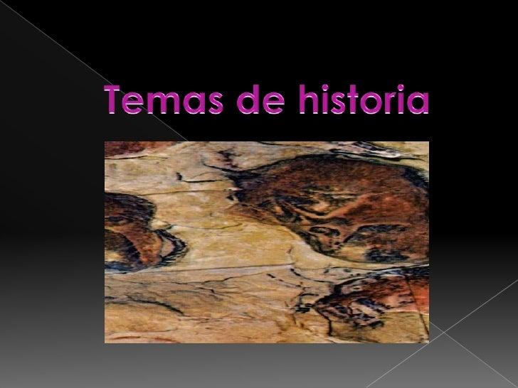 Temas de historia<br />