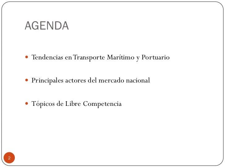 Temas de libre competencia en la regulación del mercado portuario Slide 2