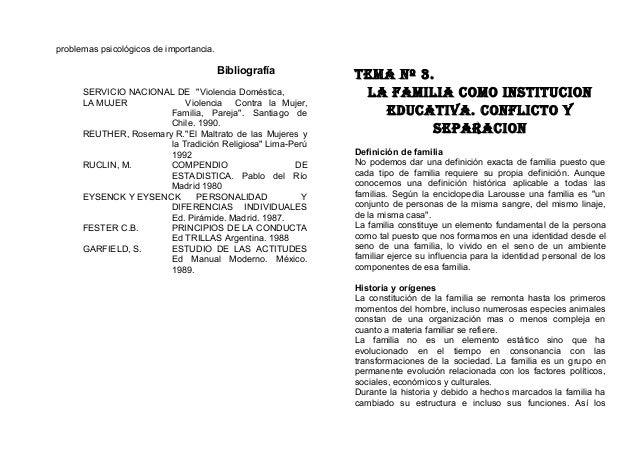 """problemas psicológicos de importancia. Bibliografía SERVICIO NACIONAL DE """"Violencia Doméstica, LA MUJER Violencia Contra l..."""