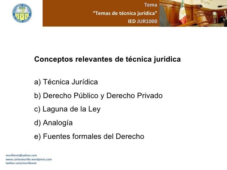 Temas tecnica juridica for Concepto de tecnicas de oficina