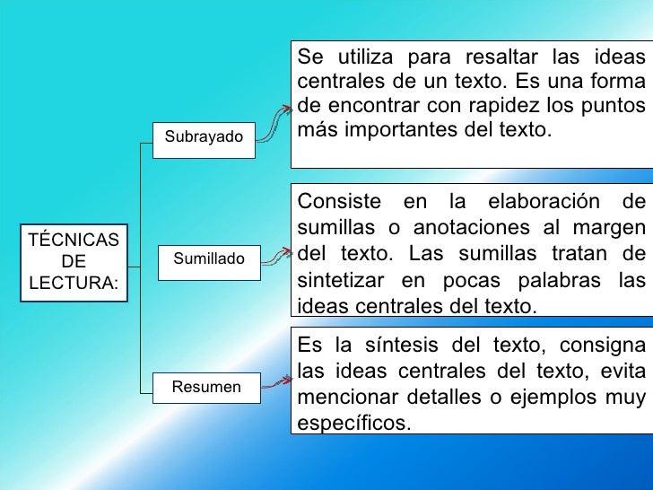 <ul><li>Se utiliza para resaltar las ideas centrales de un texto. Es una forma de encontrar con rapidez los puntos más imp...