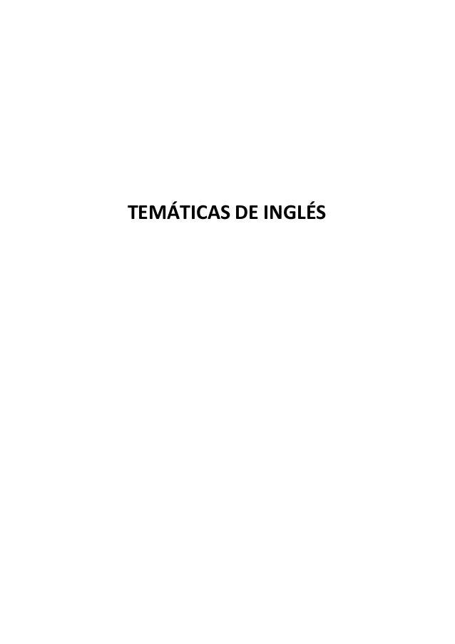 TEMÁTICAS DE INGLÉS