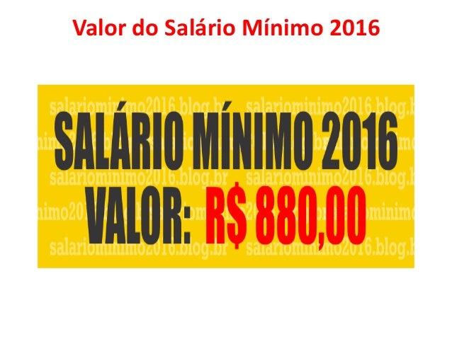 Salário O salário é a remuneração que um trabalhador recebe pelo serviço que ele executa, o valor deste salário é variável...