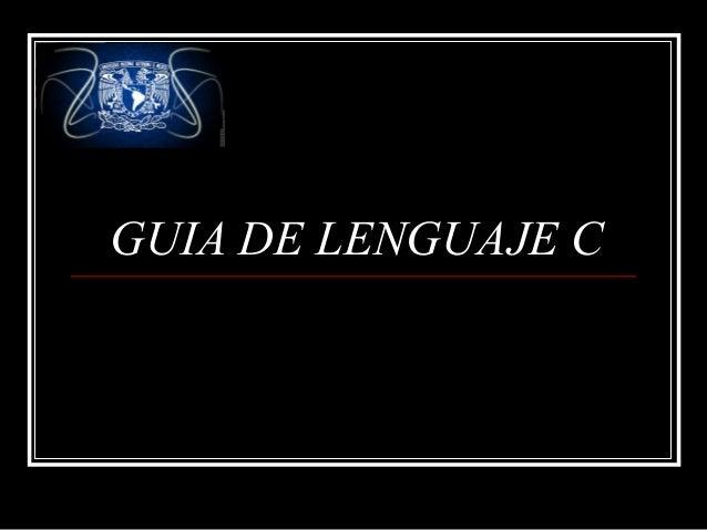 GUIA DE LENGUAJE C