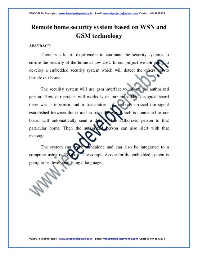 VENSOFT Technologies www.ieeedeveloperslabs.in Email: vensoftprojects@yahoo.com Contact: 9448847874 VENSOFT Technologies w...