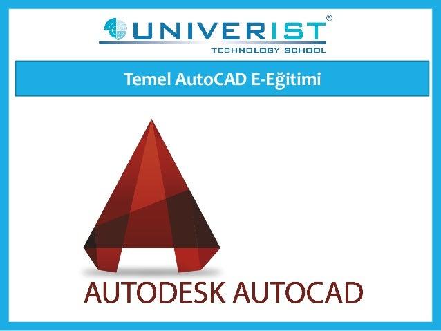 Temel AutoCAD E-Eğitimi