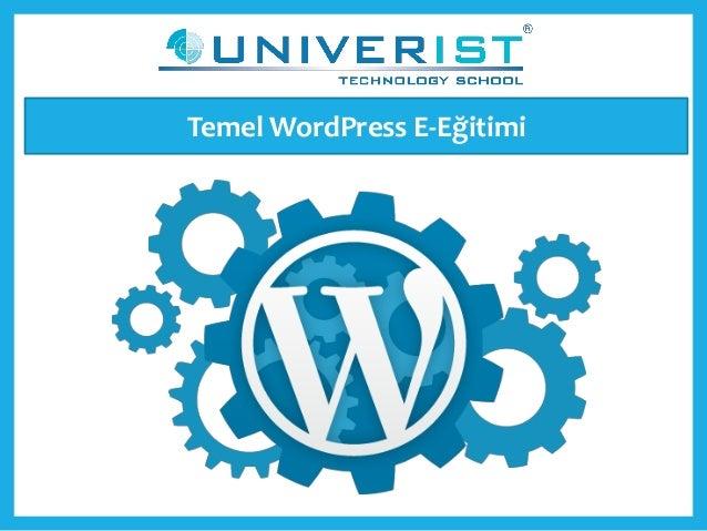 Temel WordPress E-Eğitimi