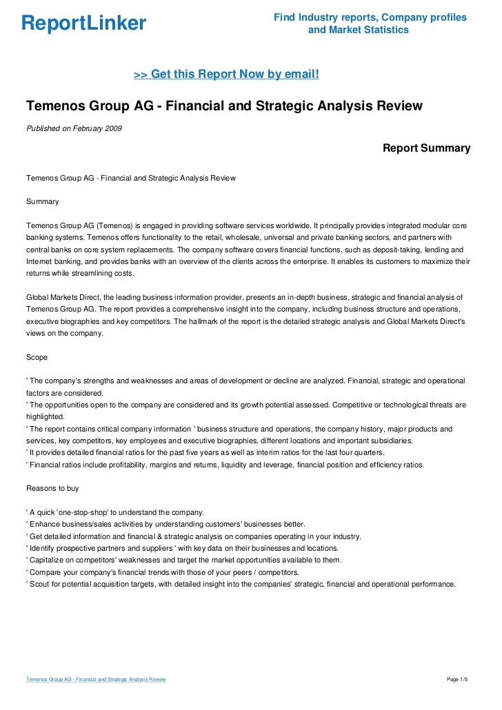 Temenos Group AG - Financial and Strategic Analysis Review