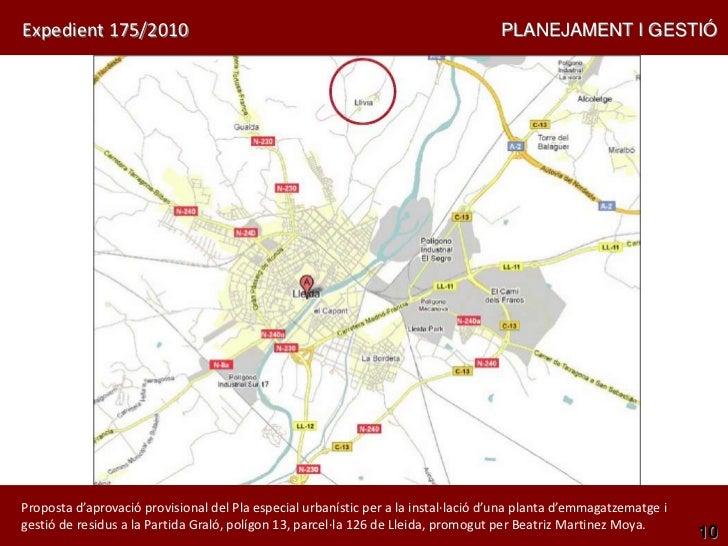 Expedient 175/2010                                                                  PLANEJAMENT I GESTIÓProposta d'aprovac...