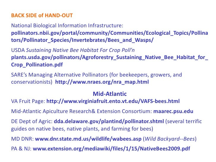 BACK SIDE of HAND-OUTNational Biological Information Infrastructure:pollinators.nbii.gov/portal/community/Communities/Ecol...