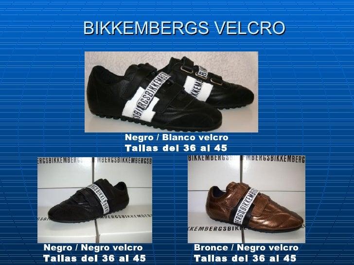 BIKKEMBERGS VELCRO Negro / Blanco velcro Tallas del 36 al 45 Negro /Negro velcro Tallas del 36 al 45   Bronce / Negro vel...