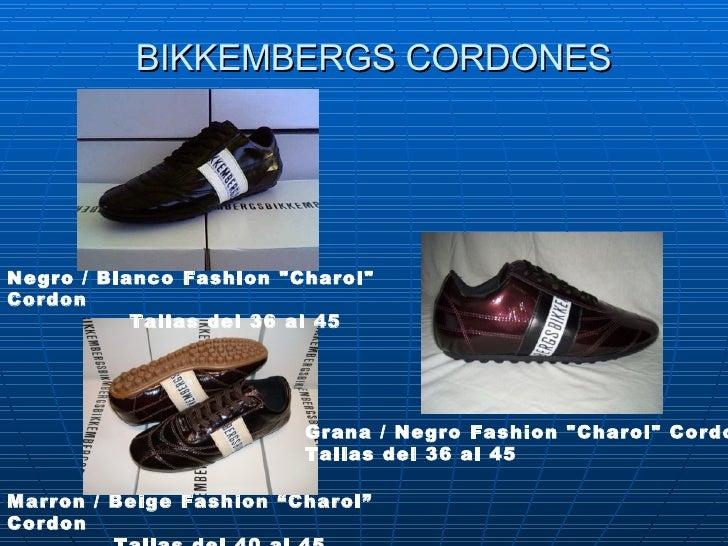 "BIKKEMBERGS CORDONES Marron / Beige Fashion ""Charol"" Cordon Tallas del40 al 45 Negro/ Blanco Fashion ""Charol"" ..."