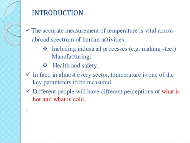 Temperature Measurement Ppt