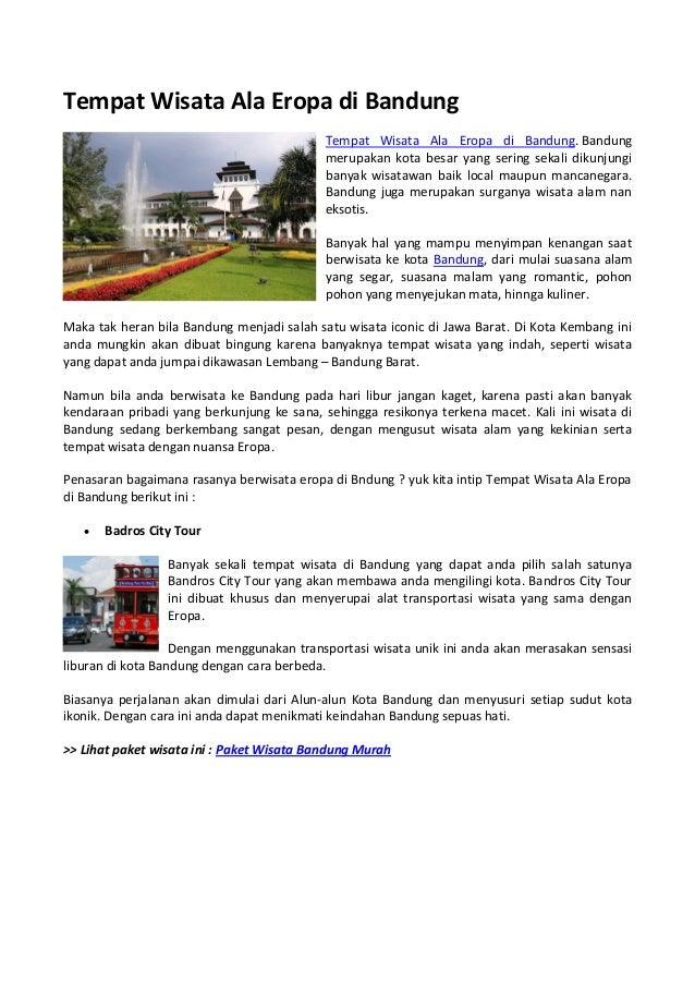 7 Wisata Baru di Lembang Bandung Ala Eropa, Spot Foto Paling Keren!