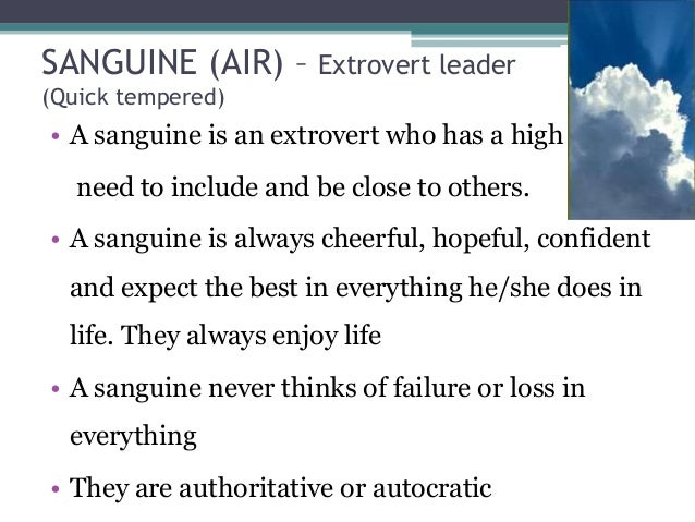 what is sanguine