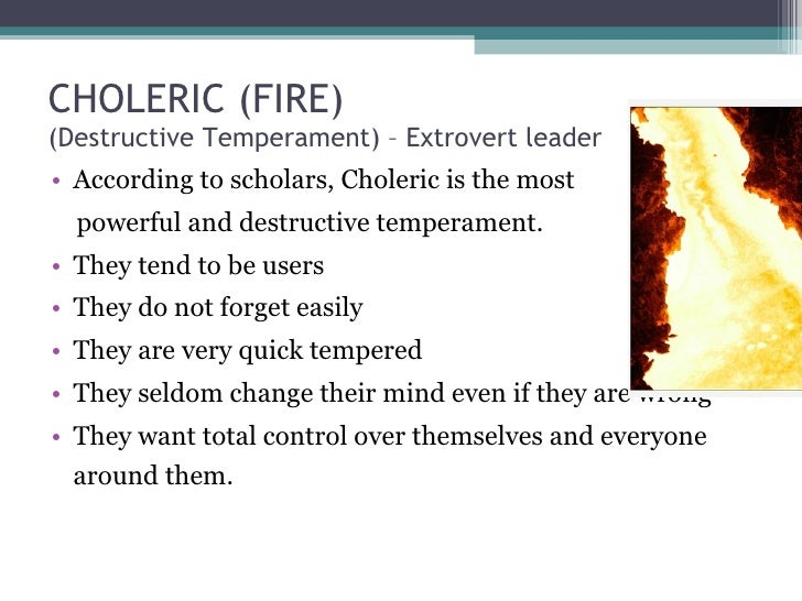 Choleric meaning