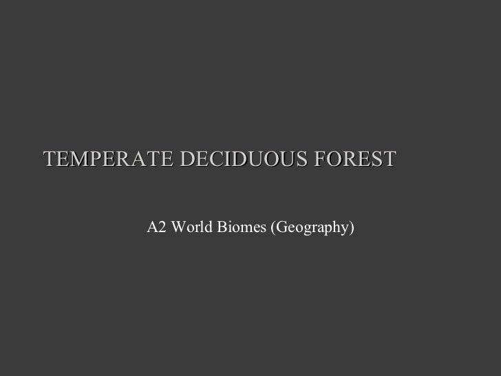 TEMPERATE DECIDUOUS FOREST A2 World Biomes (Geography)