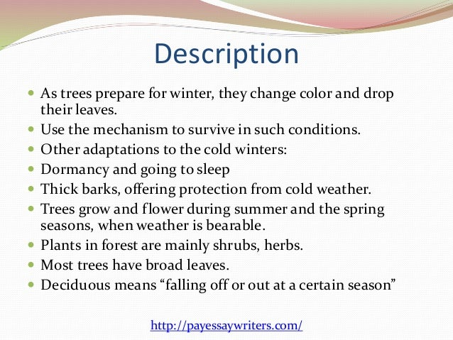 a description of where all the forests went Temperate deciduous forest temperate deciduous forests are most notable because they go description temperate deciduous forests are located.