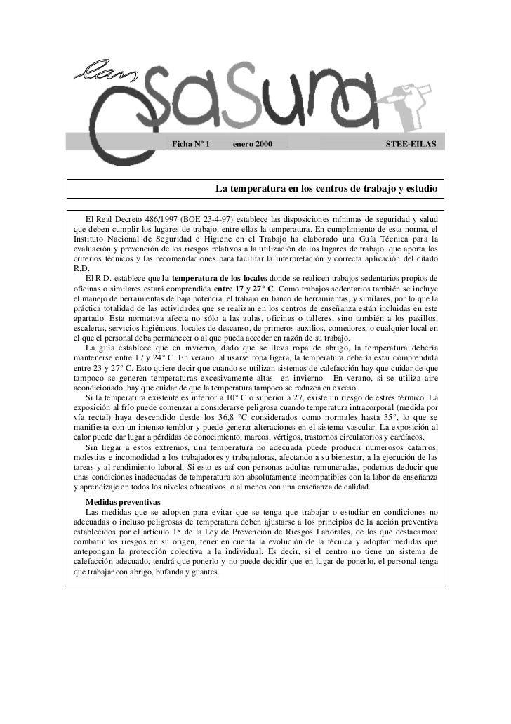 Ficha Nº 1        enero 2000                                   STEE-EILAS                                         La tempe...