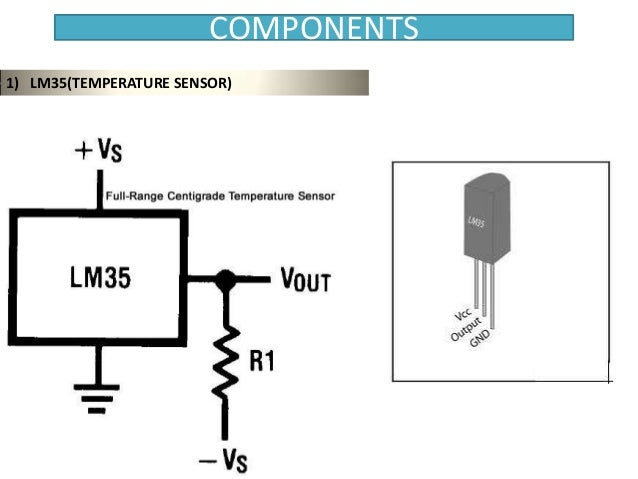 temperature based speed control of fan using microcontrollercomponents 1) lm35(temperature sensor)