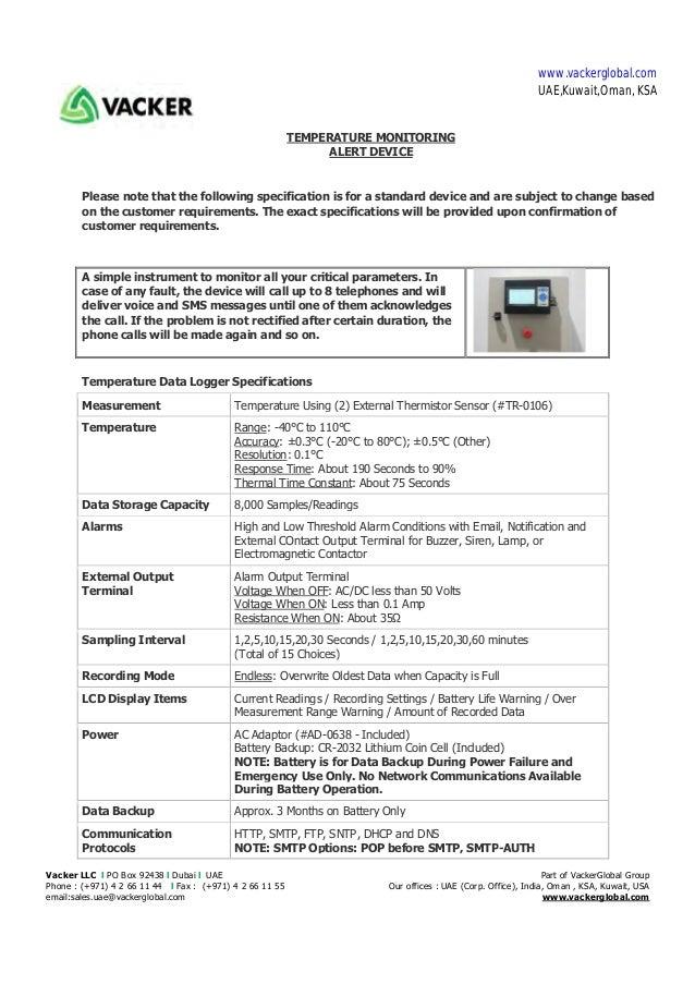 Vacker LLC l PO Box 92438 l Dubai l UAE Part of VackerGlobal Group Phone : (+971) 4 2 66 11 44 l Fax : (+971) 4 2 66 11 55...