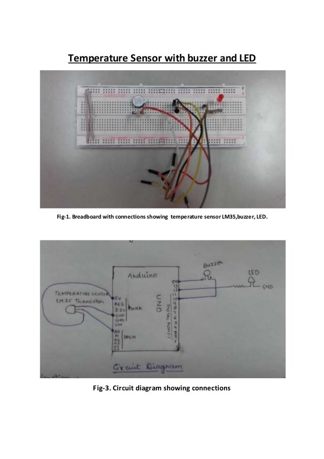 Temperature sensor with buzzer and led temperature sensor with buzzer and led fig 1 breadboard with connections showing temperature sensor ccuart Images