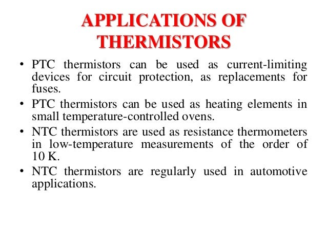 Temperature Sensors Thermocouple Thermistor Resister