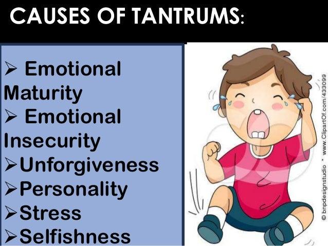 tantrum in adult Temper