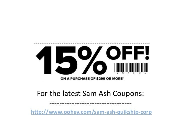 Sam Ash Coupons Code February 2013 March 2013 April 2013