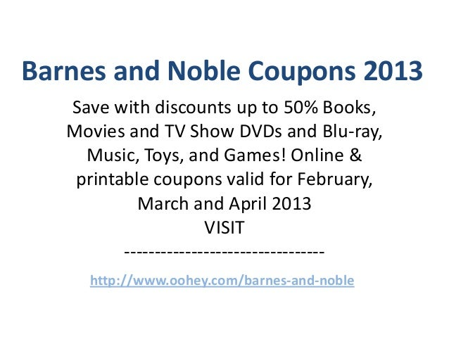 barnes and noble coupons 2013 save with discounts up to 50 books